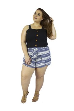 SHORT ENVELOPE EM VISCOLYCRA 329 - Estilize Plus Size