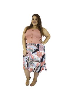 CROPPED PLUS SIZE BOTÕES - Estilize Plus Size