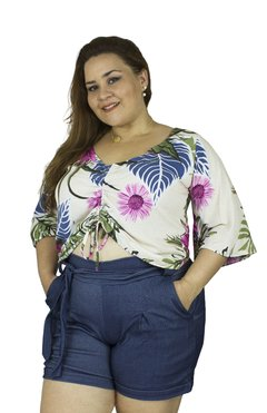 BLUSA PLUS SIZE  COM REGULAGEM