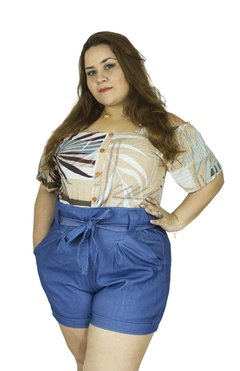 SHORT CLOCHARD PLUS SIZE JEANS