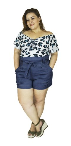 SHORT CLOCHARD PLUS SIZE JEANS na internet