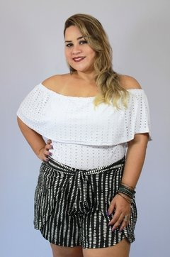 Short Feminino Plus Size Envelope