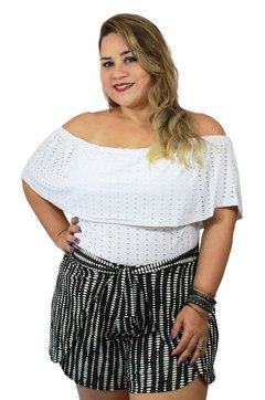 SHORT PLUS SIZE ENVELOPE ESTAMPADO
