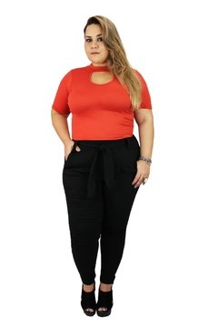 CROOPED PLUS SIZE EM SUEDE SLIM na internet