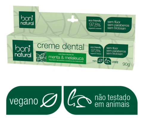 Kit 4 creme dental + 1 Escova Cabo Bambo - Boni Natural - comprar online