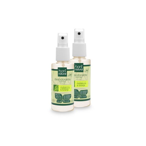 Kit com 2 Desodorantes Spray Natural Melaleuca e Toranja – Boni Natural