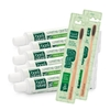 Kit 6 Cremes Dentais + 2 Escovas de Bambu Boni Natural