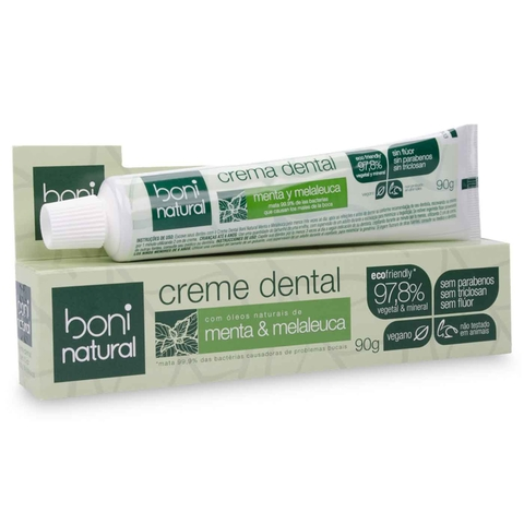 Creme Dental Boni Natural Menta e Melaleuca 90g