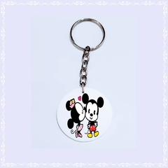 Chaveiro Mickey e Minnie Cut
