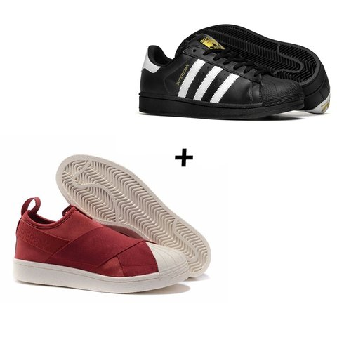 COMBO 2x PARES SUPERSTAR e SLIP ON