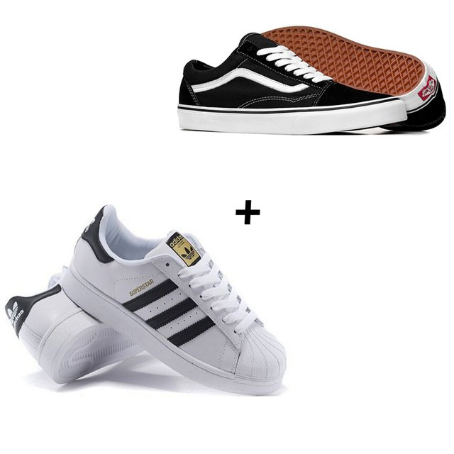 COMBO 2x PARES OLD SKOOL e SUPERSTAR