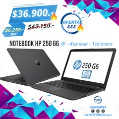 Notebook HP 250 G6 - comprar online
