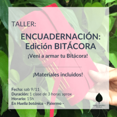 WORKSHOP DE BITÁCORA