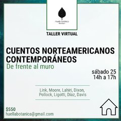 TALLER VIRTUAL: CUENTOS NORTEAMERICANOS CONTEMPORÁNEOS