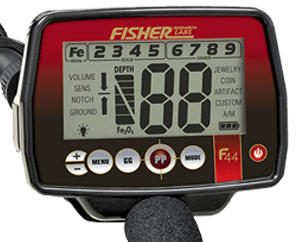 Painel de Controle do detector Fisher F44