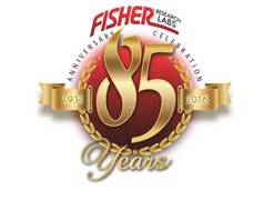 Logo Fisher 85 anos