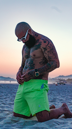 Shorts Neon - Verde (Masculino) on internet