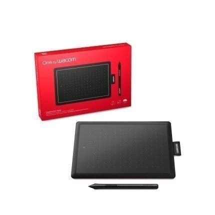 Tableta WACOM one small negra y rojo