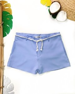 SHORT ALFAIATARIA COLORS AZUL CANDY