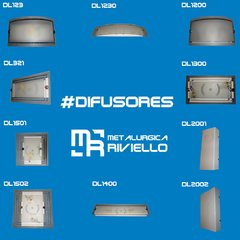 Difusor Chapa con Plaqueta LED  CAMBIABLE!! Ideal Pasillo O Hall!!