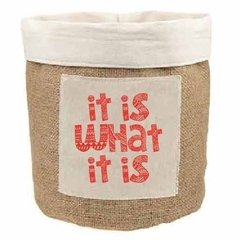 Contenedor Panera o Multiuso 15x15cm It is what it is - comprar online