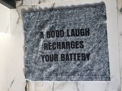 Trapo de piso Estampado A Good Laugh Recharge your Batteries - comprar online