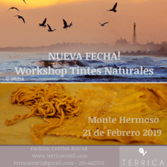 RESERVA Workshop Tintes Naturales 21 de Febrero 2019