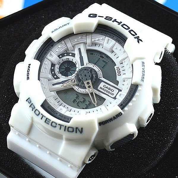 eef9b820445 Relógio Casio G-Shock GA-110 Automático Branco Unissex À PROVA D´ÁGUA +  Estojo Original
