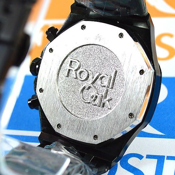 af092d5622c Relógio Audemars Piguet Royal Oak Funcional Preto Fundo Preto Pulseira Aço  Masculino À prova d´água. 0% OFF