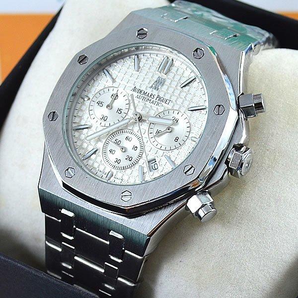 a55ab93eb21 Relógio Audemars Piguet Royal Oak Funcional Prata Pulseira Aço Masculino À  prova d´água