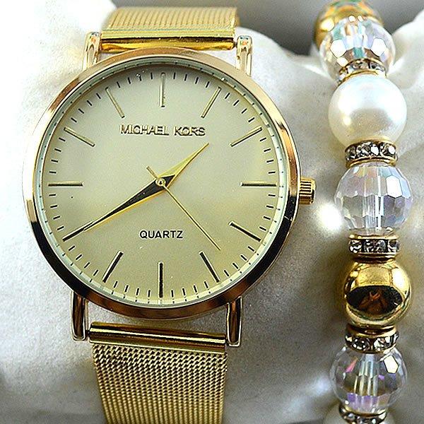 916165b9ca9 ... Relógio Michael Kors Essential Slim Runway Gold Bracelet Crystal  Pulseira Esteira Aço Feminino + PULSEIRA e ...