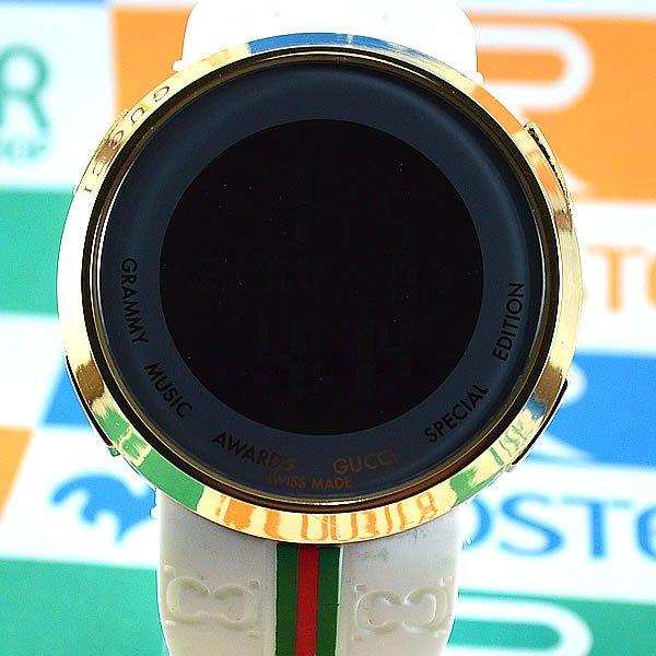 48122cfce19 Relógio Gucci Grammy Awards Digital Dourado Pulseira Borracha Branca  Unissex À PROVA D´ÁGUA. 0% OFF. 1