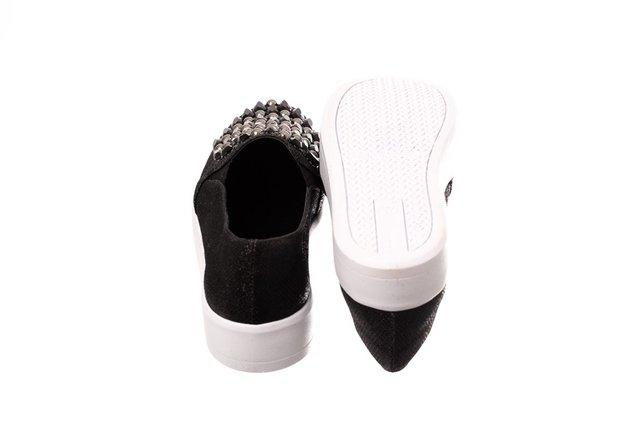 Slip On Preto Pedraria - Butique de Sapatos