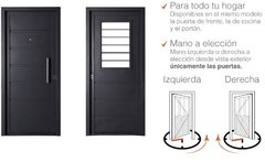 Puerta Chapa Simple 2 Tableros 80 X 2 El Italo . en internet