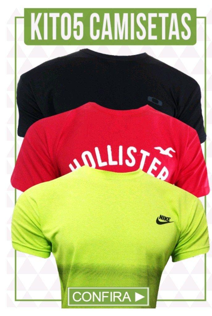 5f6f987759 Kit 05 Camisetas - Comprar em BAZAR JK