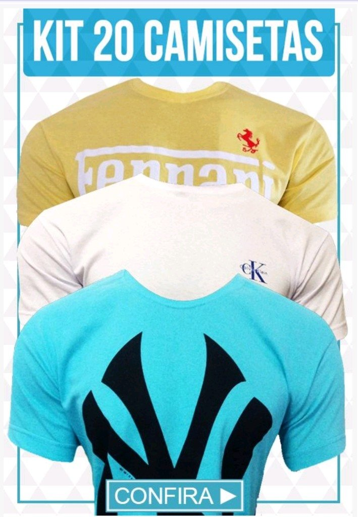 47a1bb9807 Kit 20 Camisetas - Comprar em BAZAR JK