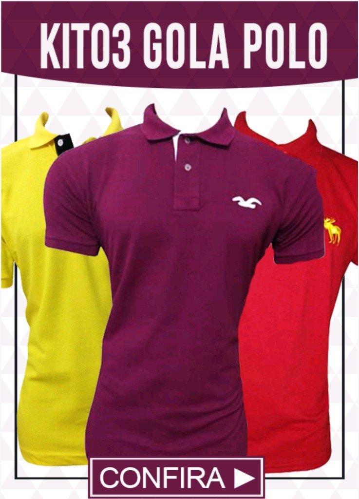 95dbe09cb0 Kit 03 Camisas Gola Polo - Comprar em BAZAR JK