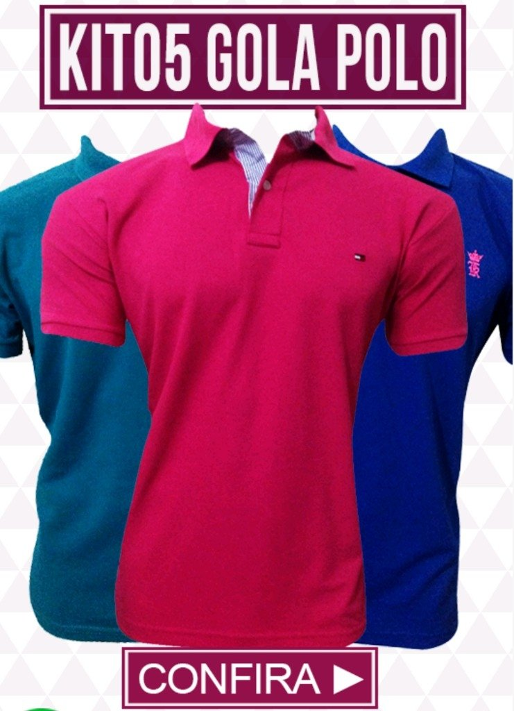 51f9fc44bf Kit 05 Camisas Gola Polo - Comprar em BAZAR JK