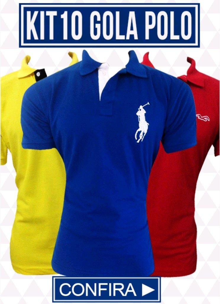 ab09a571d1 Kit10 Camisas Gola Polo - Comprar em BAZAR JK