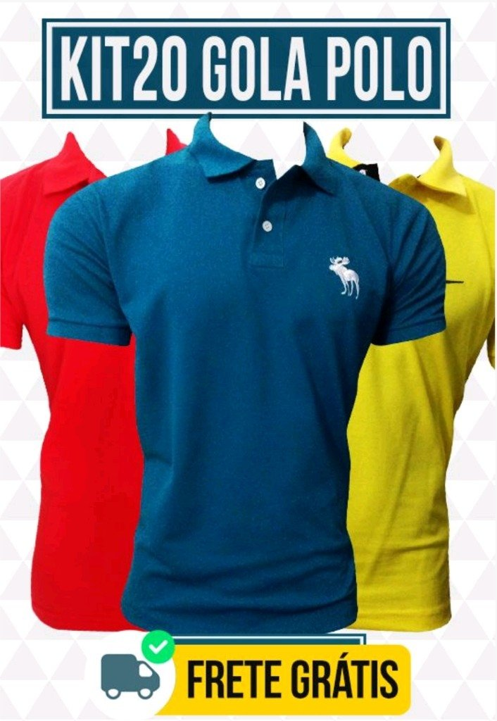 acd9c509cc Kit 20 Camisas Gola Polo - Comprar em BAZAR JK