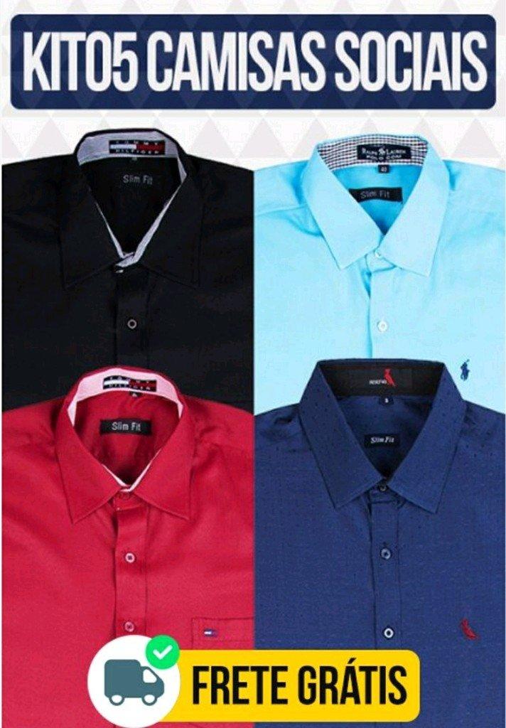 1090a37536 Kit 05 Camisas sociais - Comprar em BAZAR JK