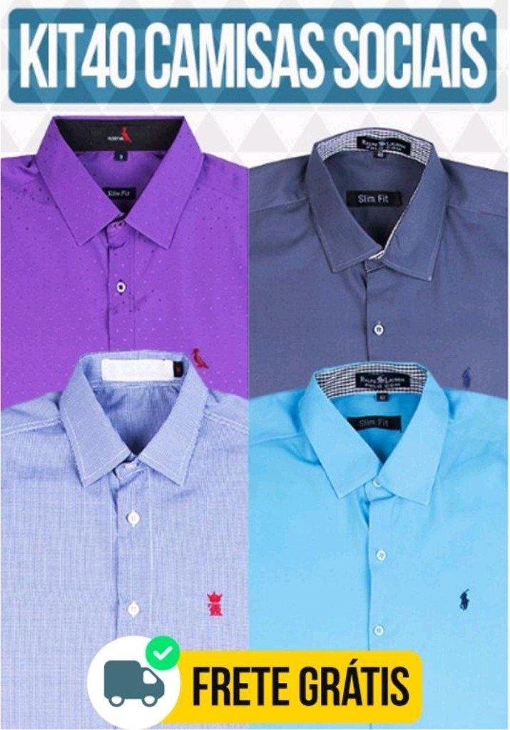 ded4f048a3 Kit 40 Camisas Sociais - Comprar em BAZAR JK