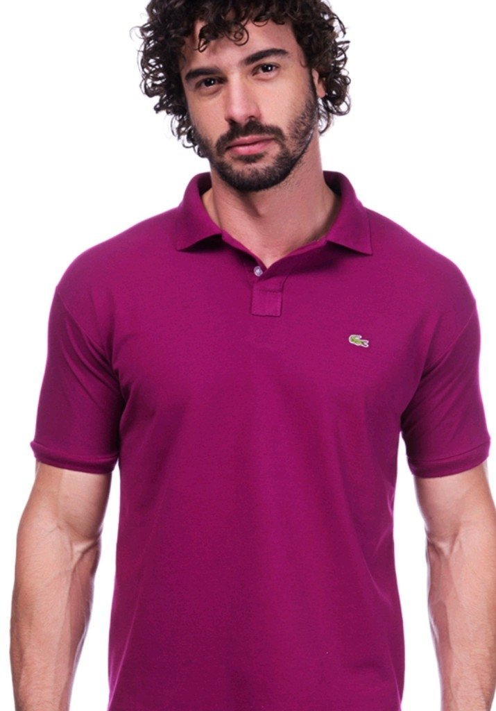 b959ff7092fe2 Camisa Polo Da Lacoste Vinho - Comprar em BAZAR JK