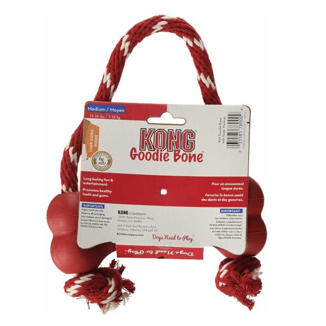 Kong Hueso Goodie Rojo S