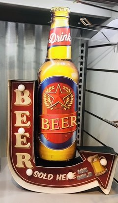 Cartel Luminoso Botella Beer