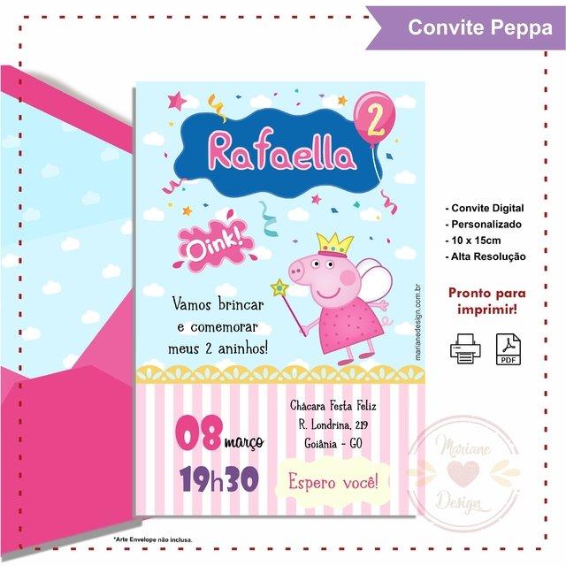 Convite Peppa Comprar Em Mariane Design