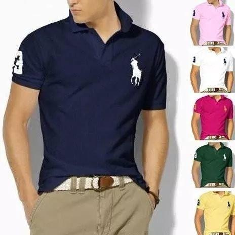 e175cd7fee Kit C  10 Camisa Polo Varia Marcas Algodão Piquet Em Oferta