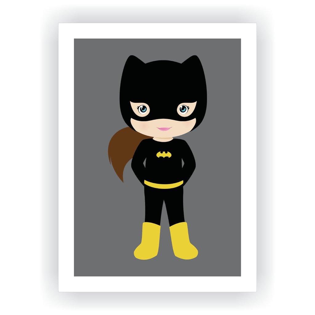 822e21617 Quadro Super Herói Baby - Mulher Gato - MMDecora