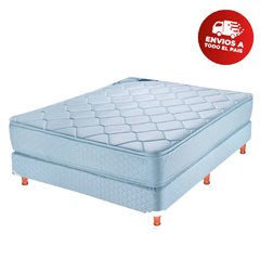 SOMMIER MELTO 2 PLAZAS JACKARD PILLOW TOP 140X30  (CON RESORTES)