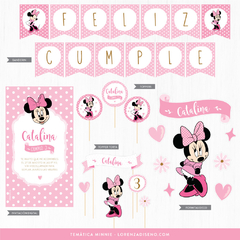 MINNIE MOUSE / KIT IMPRIMIBLE - FESTEJO EN CASA - comprar online